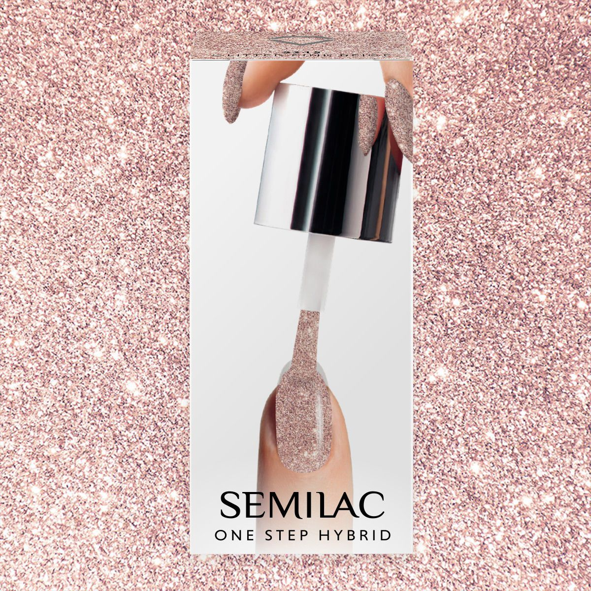 Semilac One Step Hybrid Gel Polish 5ml 245 Glitter Pink Beige - FlowertushBeauty