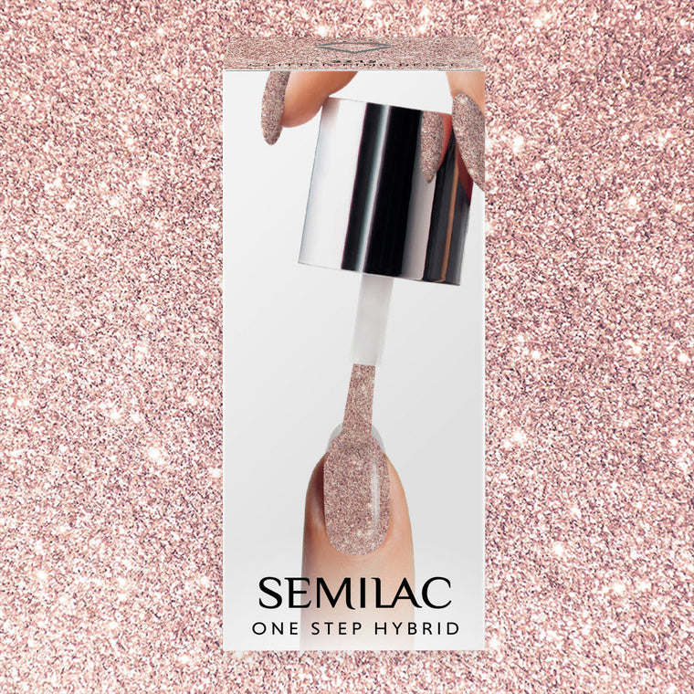 Semilac One Step Gel Polish Pen 3ml 245 Glitter Pink Beige