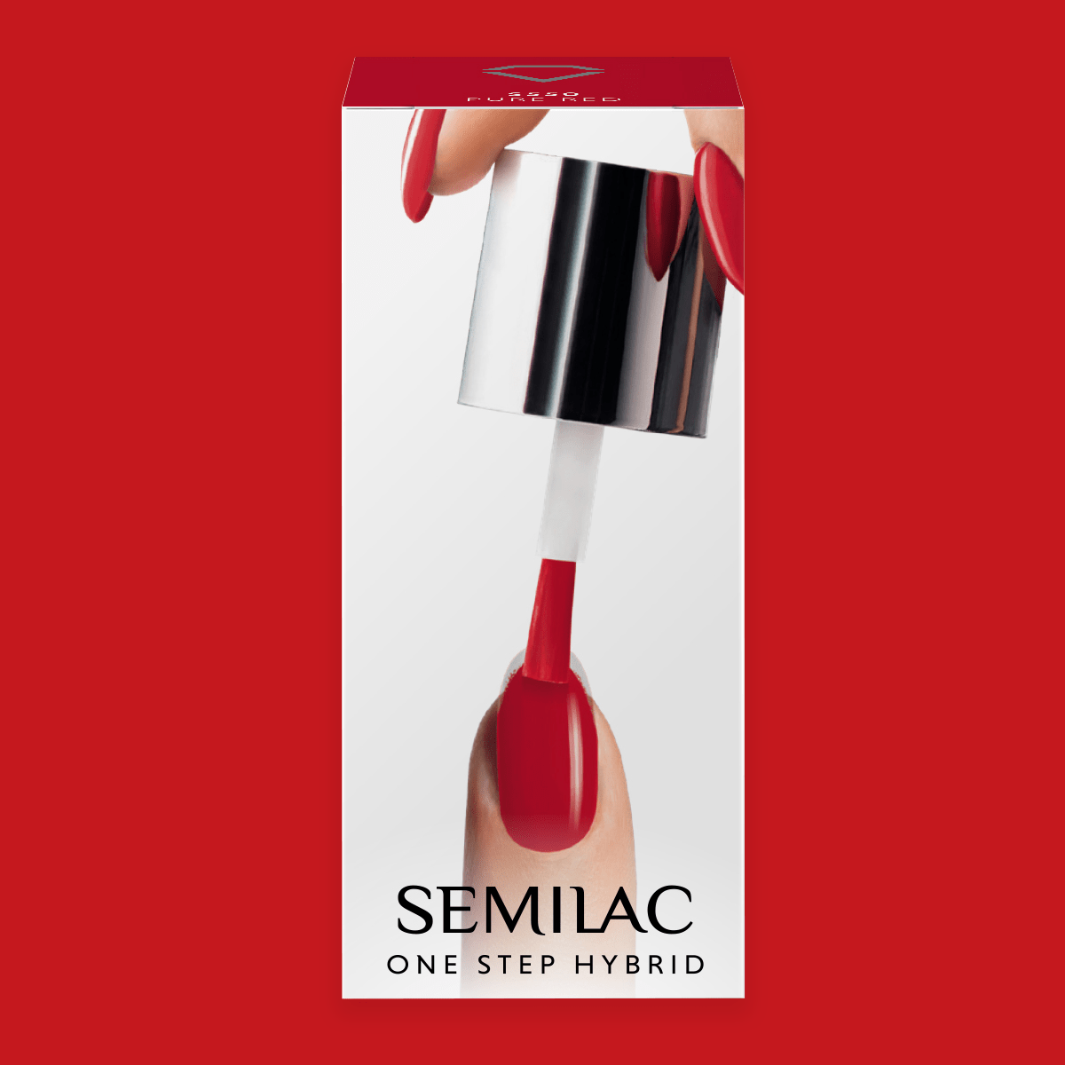 Semilac One Step Hybrid Gel Polish 5ml 550 Pure Red - FlowertushBeauty