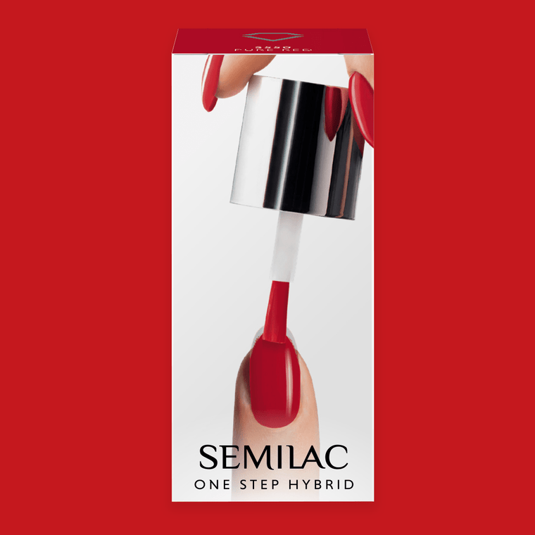 Semilac One Step Gel Polish Bottle 5ml 550 Pure Red