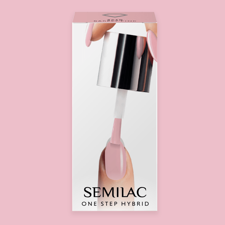 Semilac One Step Gel Polish Bottle 5ml 610 Barely Pink