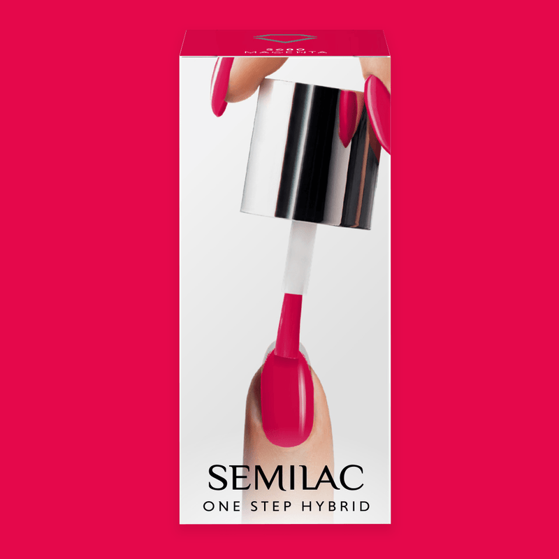 Semilac One Step Hybrid Gel Polish 5ml 680 Magenta - FlowertushBeauty