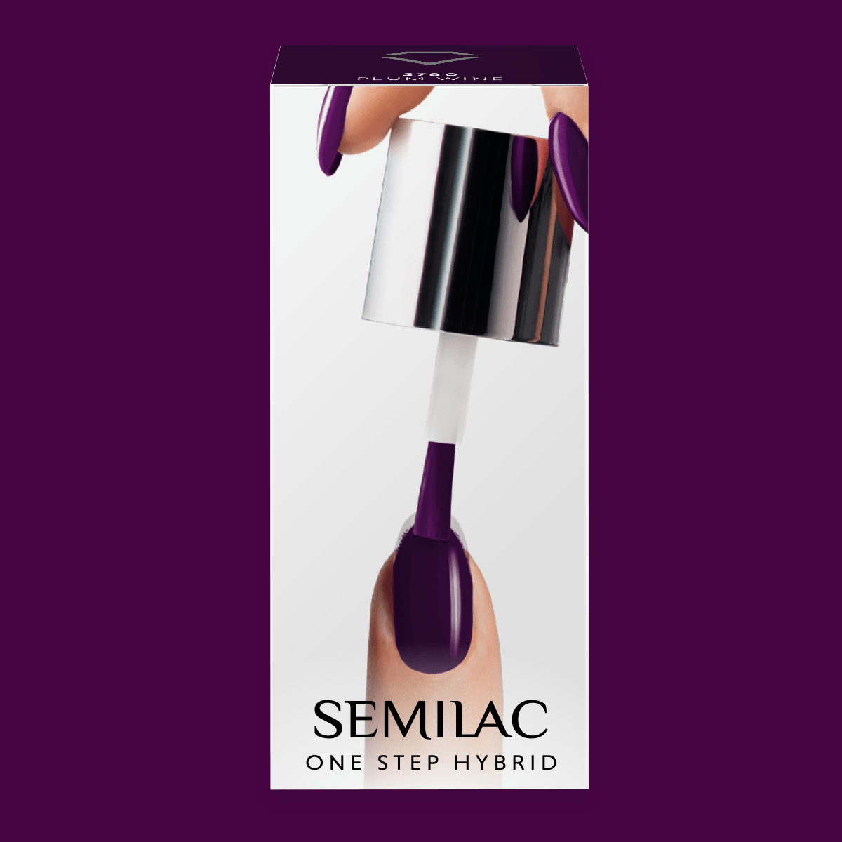Semilac One Step Hybrid Gel Polish 5ml 780 Plum Wine - FlowertushBeauty