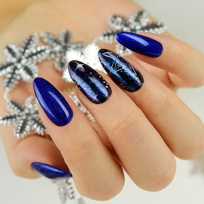 Semilac Flash Galaxy Blue&Purple 666 - FlowertushBeauty