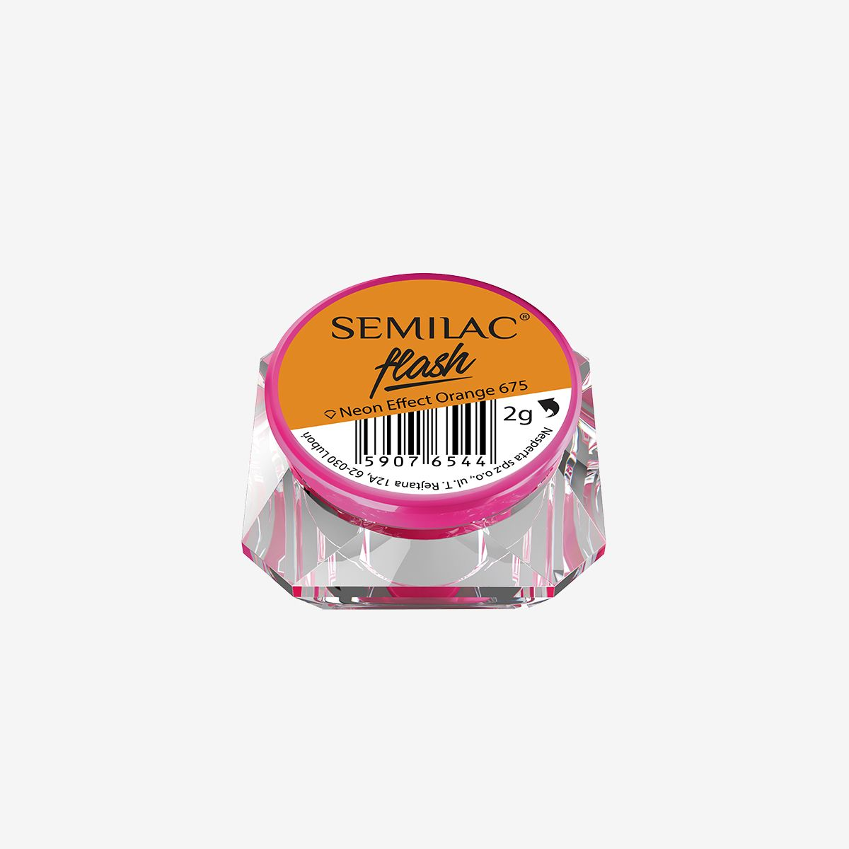 Semilac Flash Neon Effect Orange 675 - FlowertushBeauty