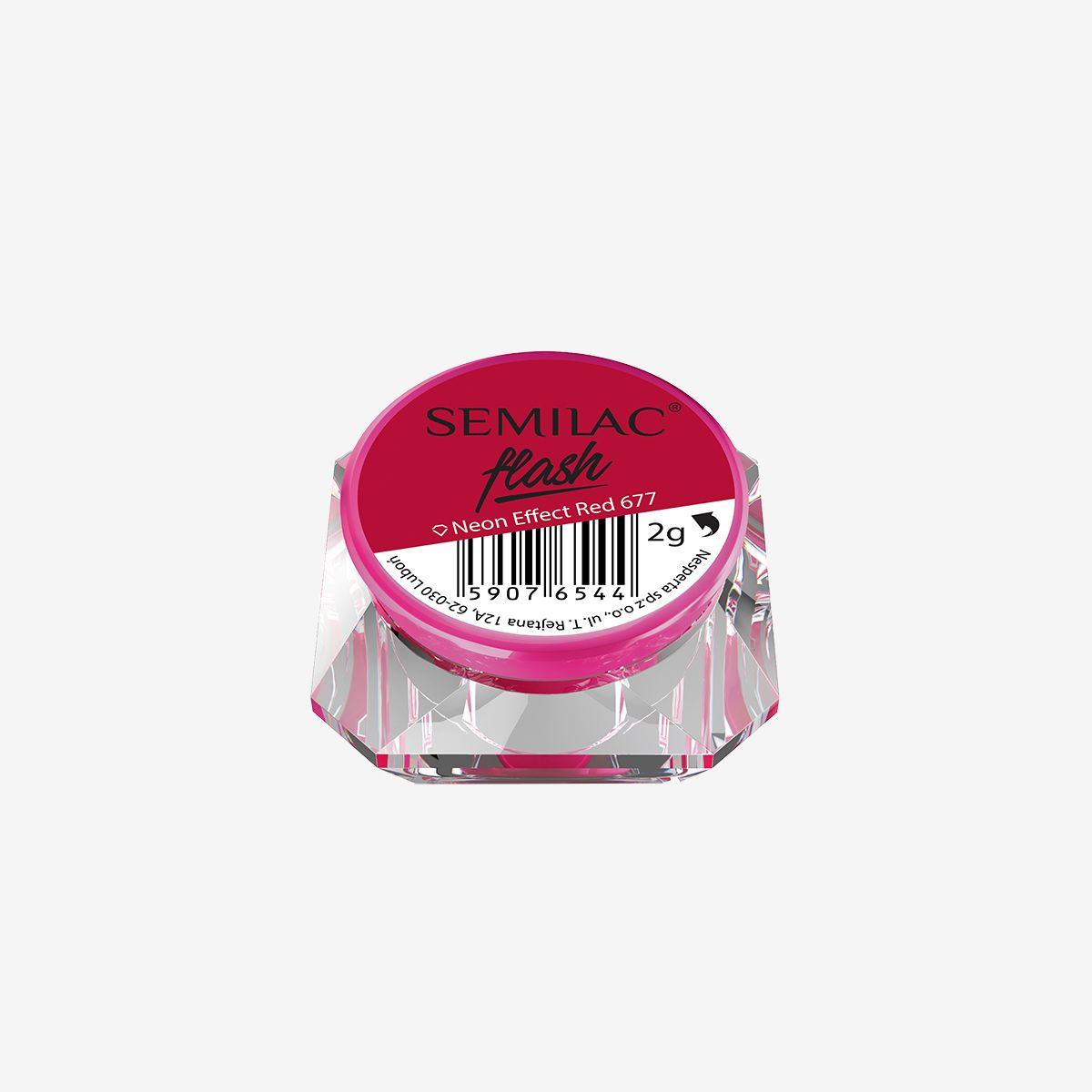 Semilac Flash Neon Effect Red 677 - FlowertushBeauty