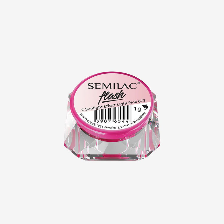 Semilac Flash Sunlight Effect Light Pink 673