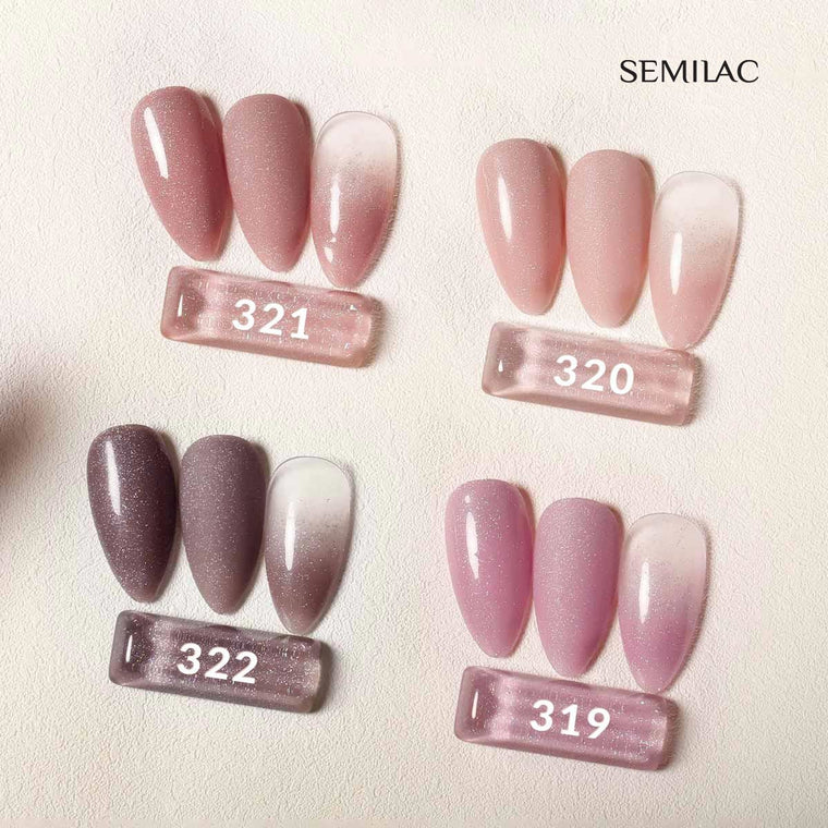 Semilac 319 Shimmer Dust Pink UV Gel Polish 7 ml