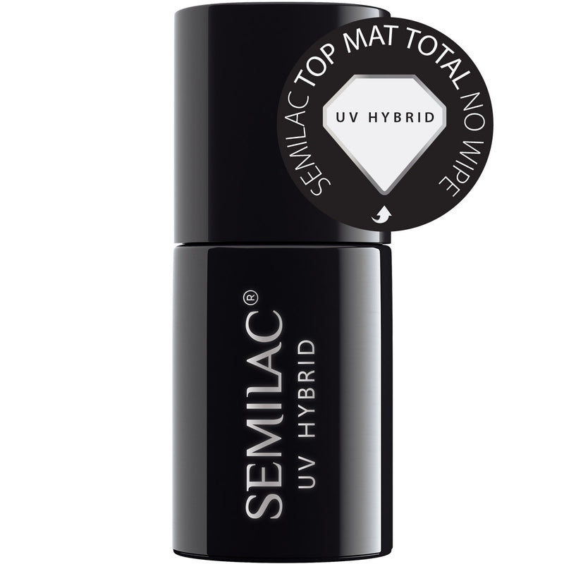 Semilac Top Mat Total No Wipe UV Gel 7 ml - FlowertushBeauty