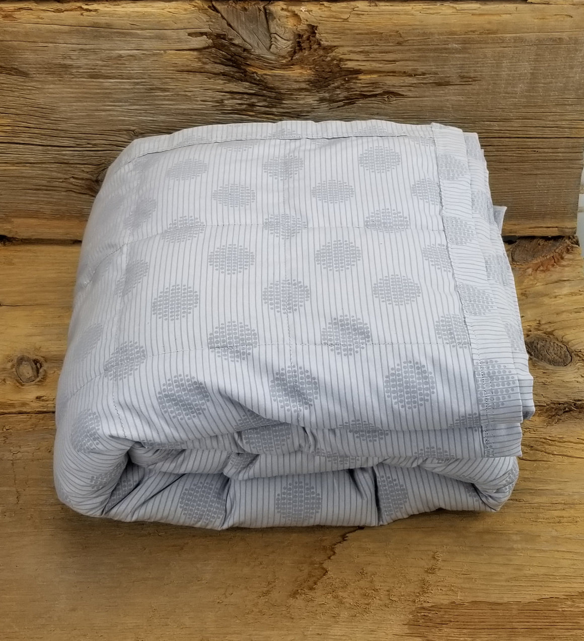 Ready to ship 17.8lbs Double/Full Weighted Blanket Light Grey Single Color
