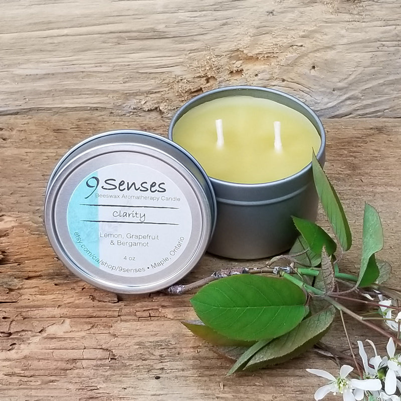 Clarity Beeswax Aromatherapy Candle