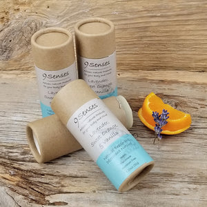 Vegan Natural Deodorant Lavender, Sweet Orange, & Vanilla