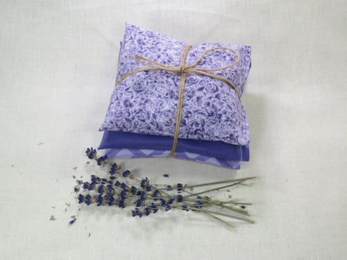Set of 3 Rustic Lavender Sachets