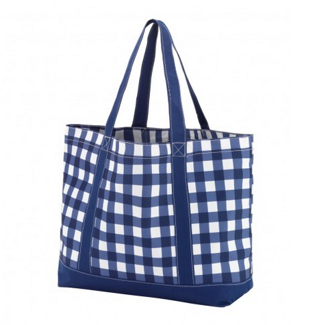 Blue Gingham Tote
