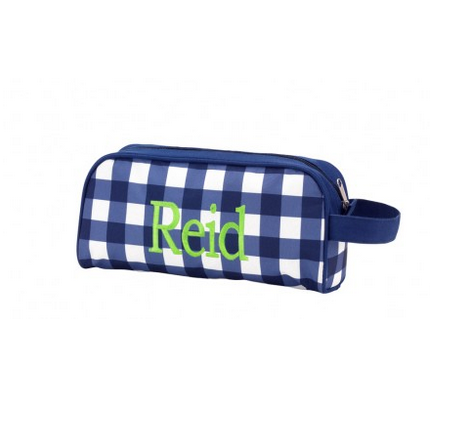 Blue Gingham Toiletry Bag