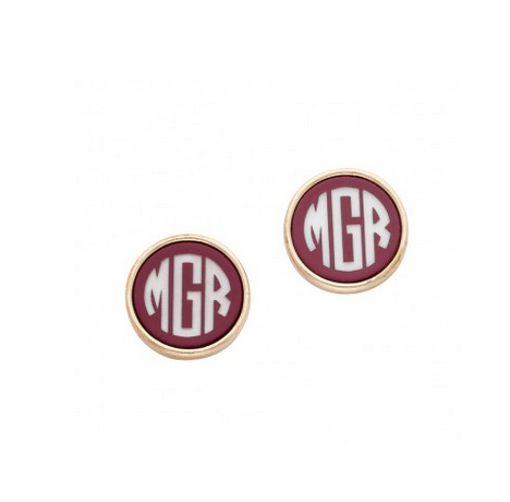 Garnet and Gold Post Earrings