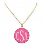 Hot Pink and Gold Long Necklace