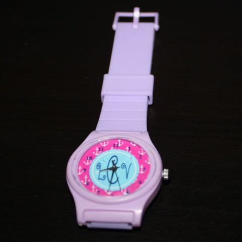 Purple Petite Rubber Sports Watch -lCv