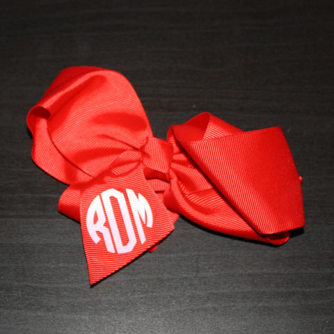 6 inch red bow-rDm