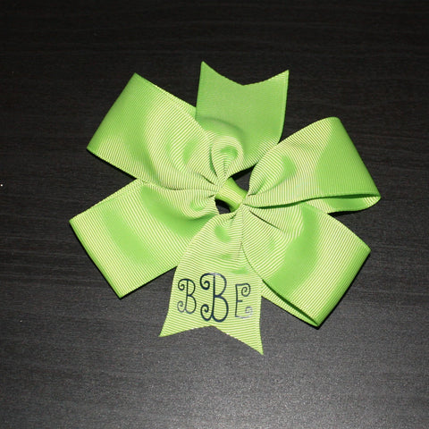 5 Inch Lime Bow -bBe