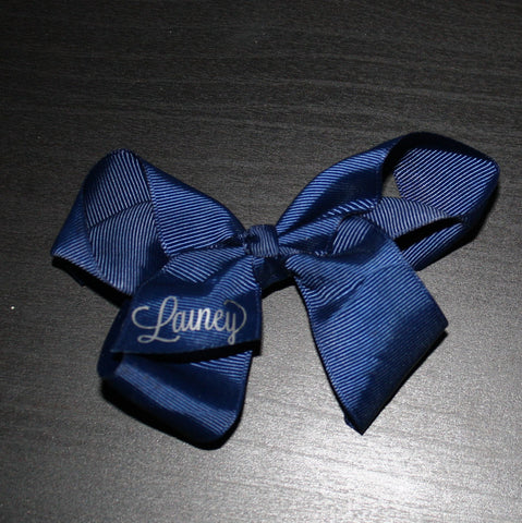 4 Inch Navy Bow- Lainey