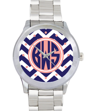 Monogrammed Sleek Watch