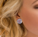 Silver Round Post Earrings