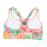 Summer Paisley Sports Bra