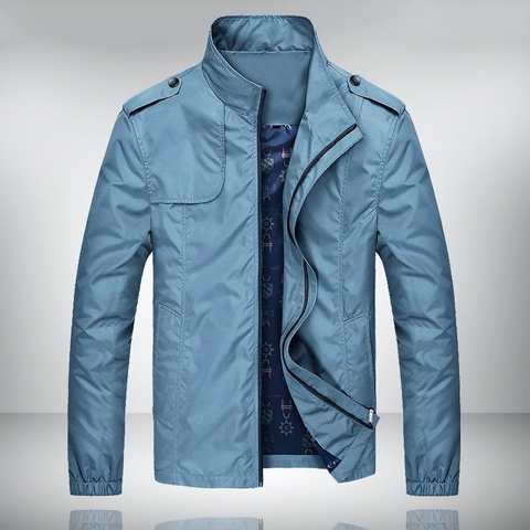 Lightweight Mens Water Repellent Stand Collar Jacket