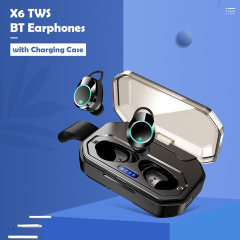X6 Wireless Headphones IPX7 Waterproof Bluetooth 5.0 Earbuds