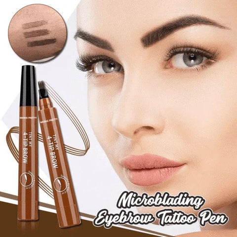 Premium Quality 4-Tips Waterproof Microblading Eyebrow Pen