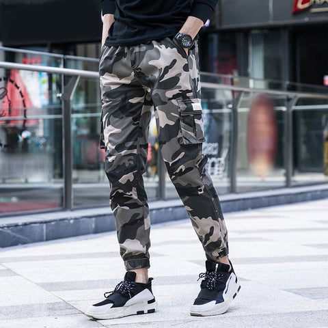 Men's casual pants-2019 spring and autumn new Korean men's