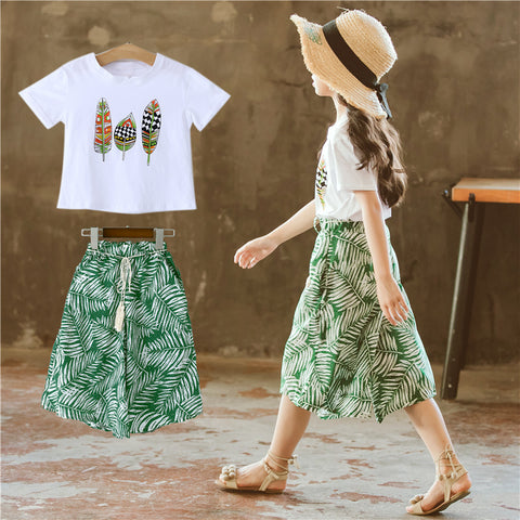 Girls 'suits_Girls' suits Summer summer Korean version of
