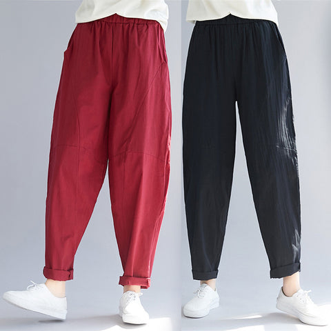 Ethnic style pants _ real shot women's pants big crotch