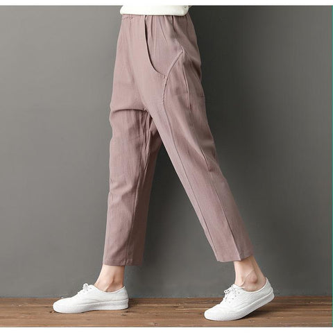 Casual harem pants _ large size loose trousers wild was thin