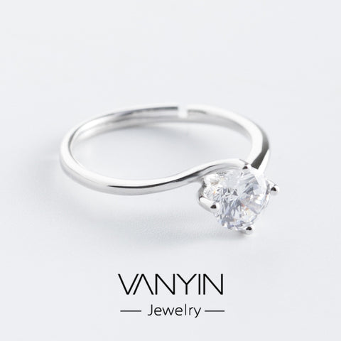 Sterling silver ring_Wan Ying jewellery diamond ring s925