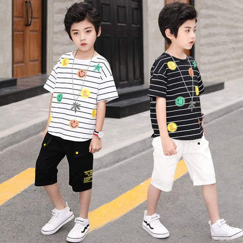 Children's two-piece suit _ children's clothing boy summer