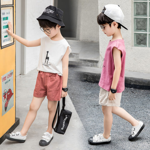 Children's vest _2019 new wild children's suit boy summer