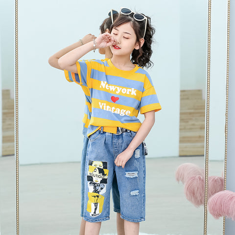 Children's suit_children's suit 2019 summer new Korean