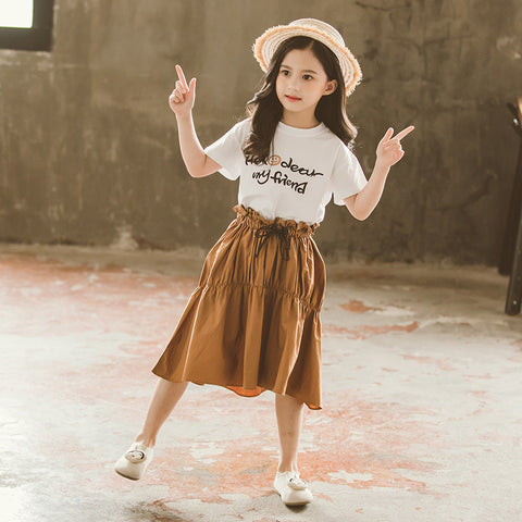 Girls 'Skirts_Children's Girls' Skirts 2019 Big Kids