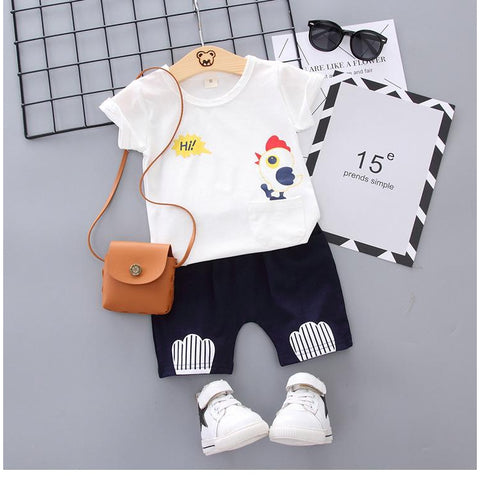 Children's short-sleeved suits