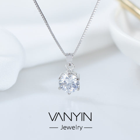 Zircon Necklace_Wan Ying Jewelry Mossex Pendant s925