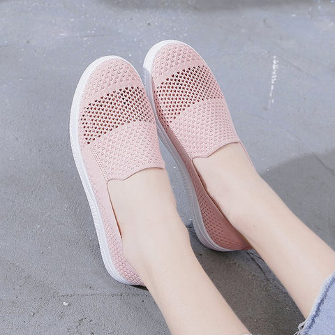 Leisure shoes_Single shoes women mesh breathable socks shoes