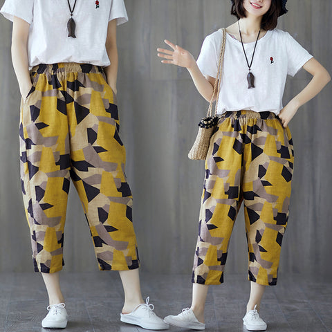 Korean version of harem pants _ loose loose waist nine