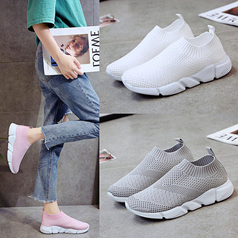Casual Sneakers_Fly Woven Shoes Breathable Foreign Trade