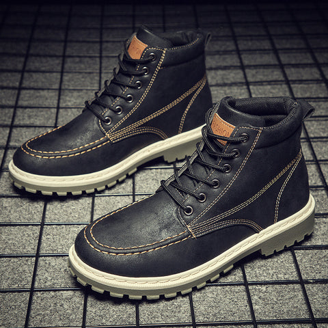 2020 autumn new men's Martin boots trend high-top men's