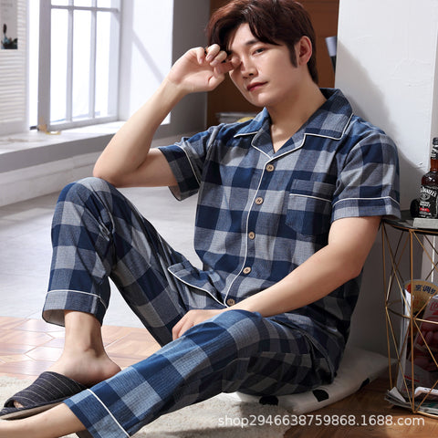 Cotton Home Service_Factory New Cotton Pajamas Men's