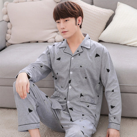 Men's Home Wear _ Pajamas Cotton Long Sleeve Summer Spring