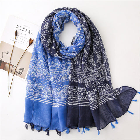 Korean Style Sun Protection Premium Printed Scarves For