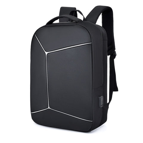 2020 New Men's Backpack Personality Geometric Waterproof
